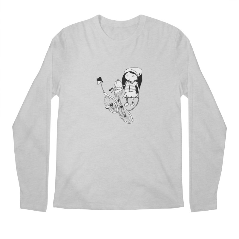 Zeginella rides a bike Men's Regular Longsleeve T-Shirt by coclodesign's Artist Shop