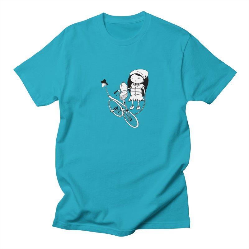 Zeginella rides a bike Women's Regular Unisex T-Shirt by coclodesign's Artist Shop
