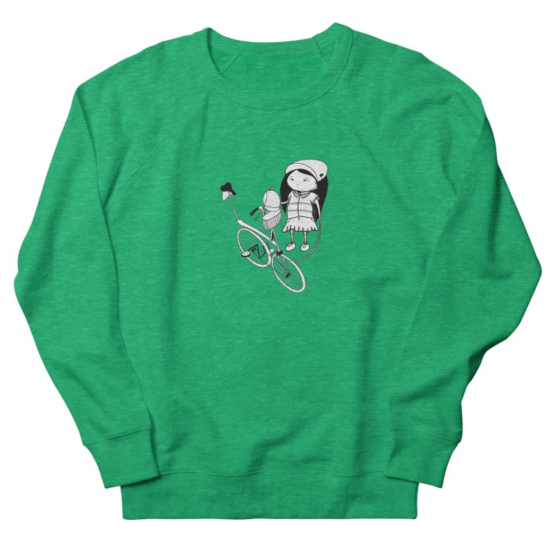 Zeginella rides a bike Men's Sweatshirt by coclodesign's Artist Shop