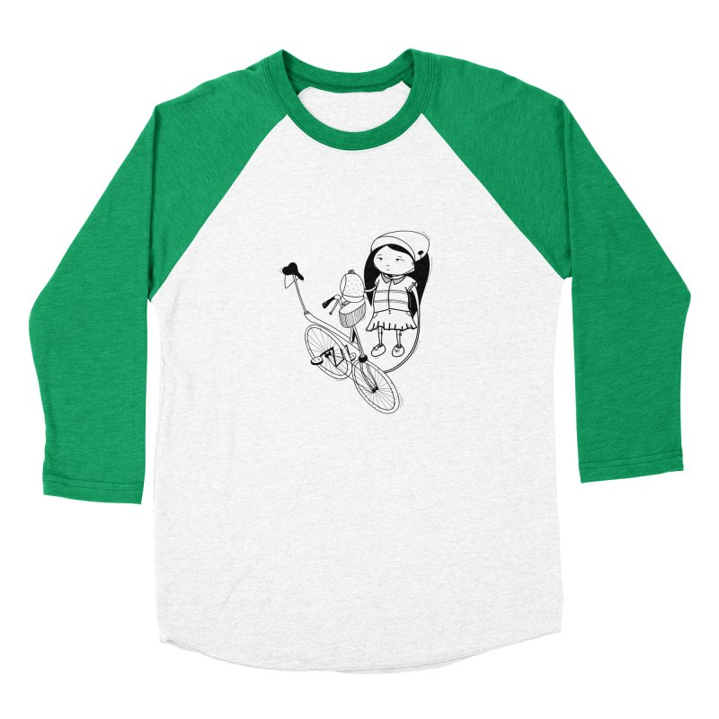 Zeginella rides a bike Men's Baseball Triblend Longsleeve T-Shirt by coclodesign's Artist Shop
