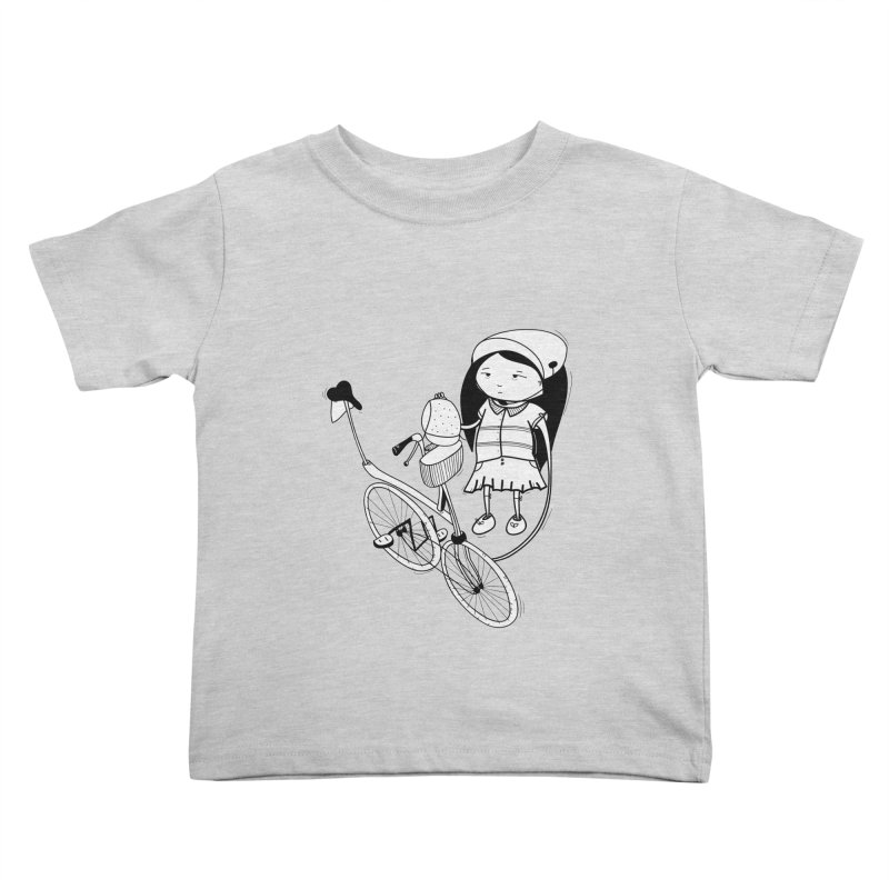 Zeginella rides a bike Kids Toddler T-Shirt by coclodesign's Artist Shop