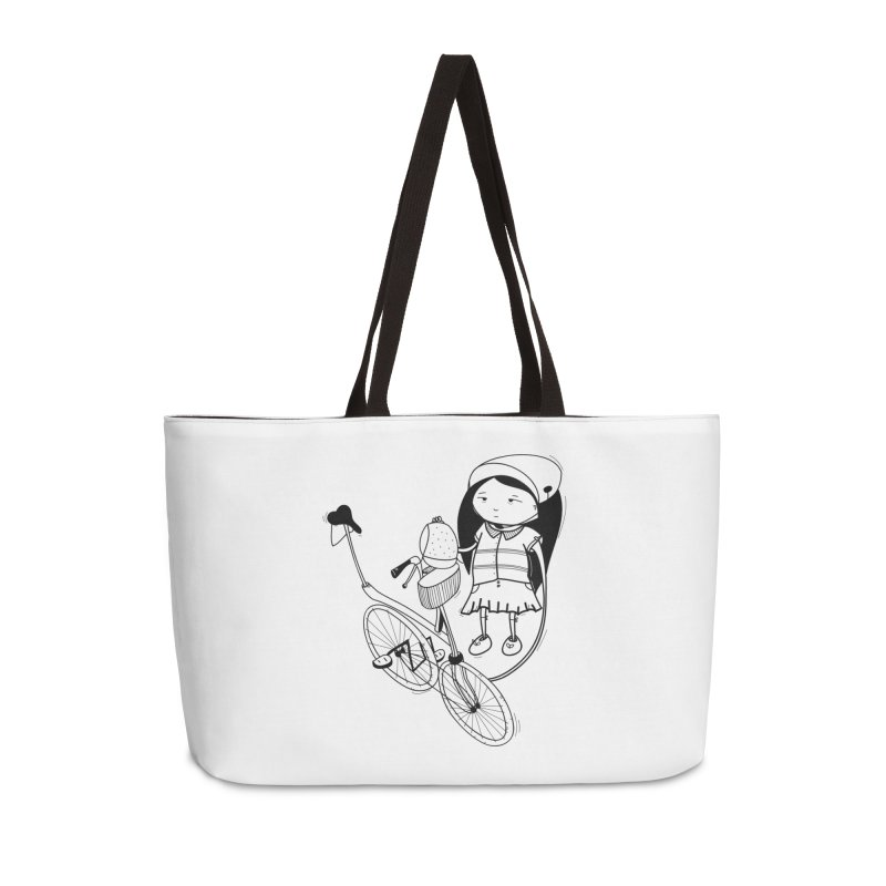 Zeginella rides a bike Accessories Weekender Bag Bag by coclodesign's Artist Shop