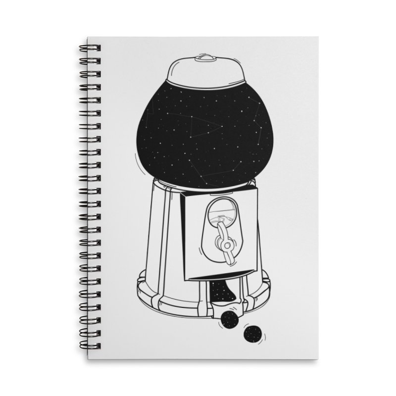 Dreams dispencer  Accessories Lined Spiral Notebook by coclodesign's Artist Shop