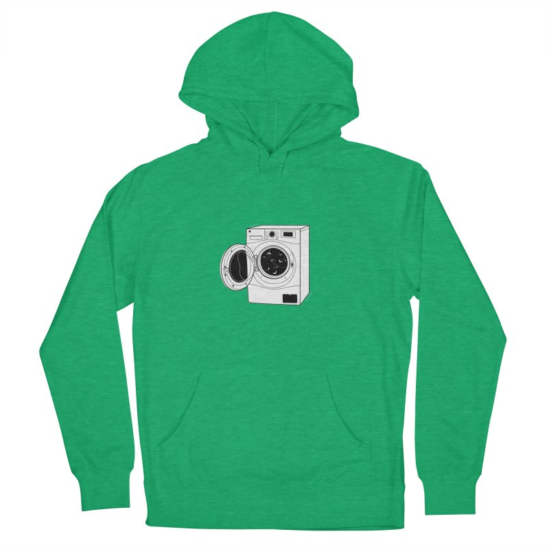 The washing machine and the mystery of the missing socks Women's Pullover Hoody by coclodesign's Artist Shop