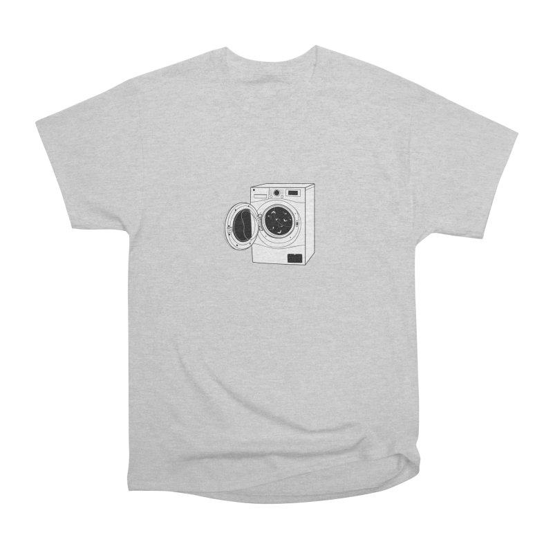 The washing machine and the mystery of the missing socks Women's Heavyweight Unisex T-Shirt by coclodesign's Artist Shop