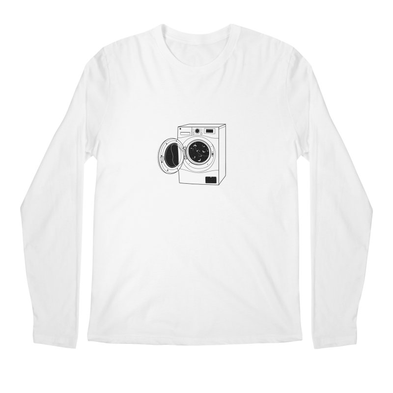 The washing machine and the mystery of the missing socks Men's Regular Longsleeve T-Shirt by coclodesign's Artist Shop