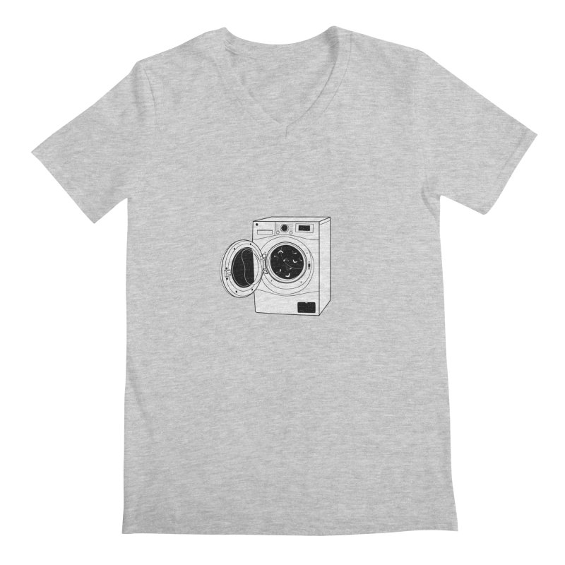 The washing machine and the mystery of the missing socks Men's V-Neck by coclodesign's Artist Shop