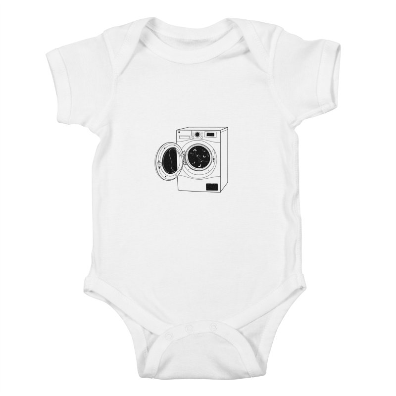 The washing machine and the mystery of the missing socks Kids Baby Bodysuit by coclodesign's Artist Shop
