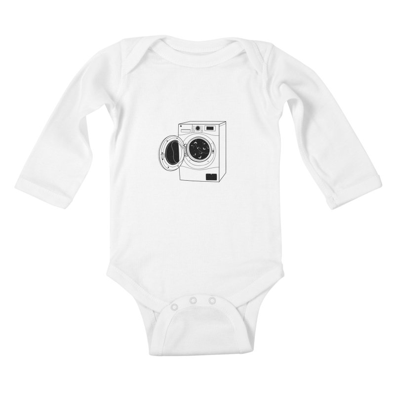 The washing machine and the mystery of the missing socks Kids Baby Longsleeve Bodysuit by coclodesign's Artist Shop