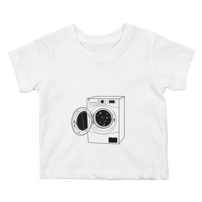 The washing machine and the mystery of the missing socks Kids Baby T-Shirt by coclodesign's Artist Shop