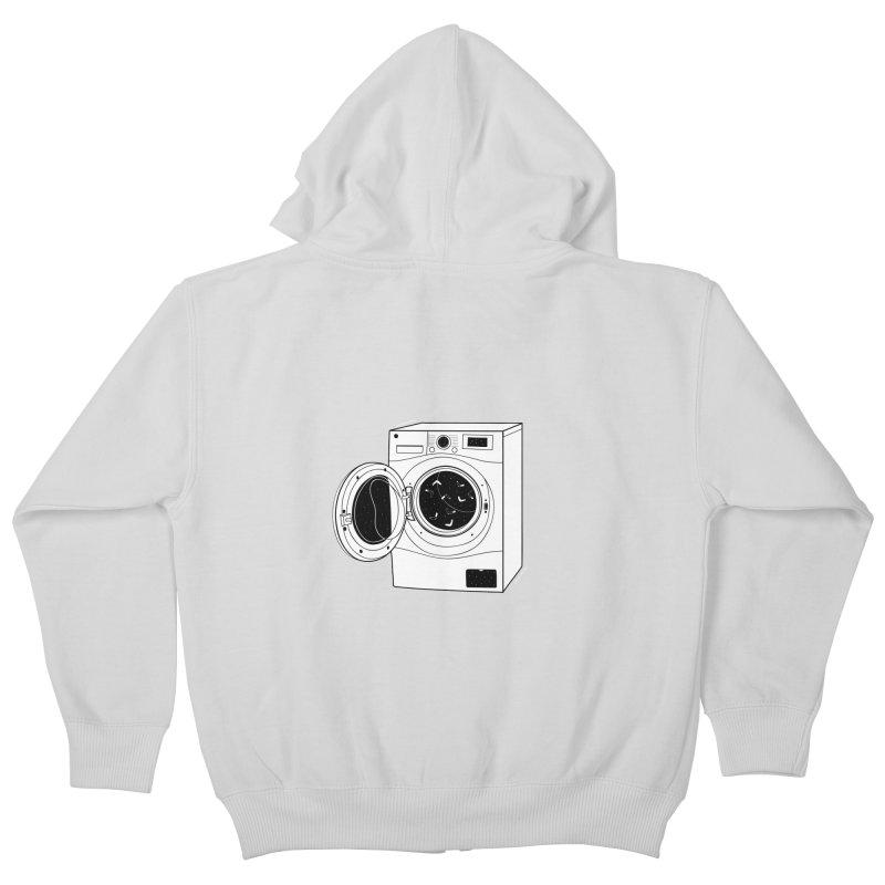The washing machine and the mystery of the missing socks Kids Zip-Up Hoody by coclodesign's Artist Shop