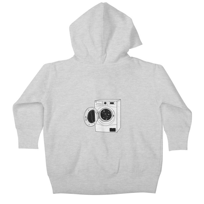 The washing machine and the mystery of the missing socks Kids Baby Zip-Up Hoody by coclodesign's Artist Shop