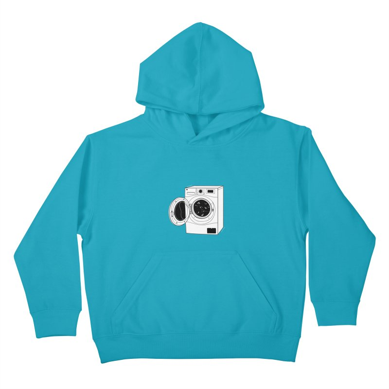 The washing machine and the mystery of the missing socks Kids Pullover Hoody by coclodesign's Artist Shop