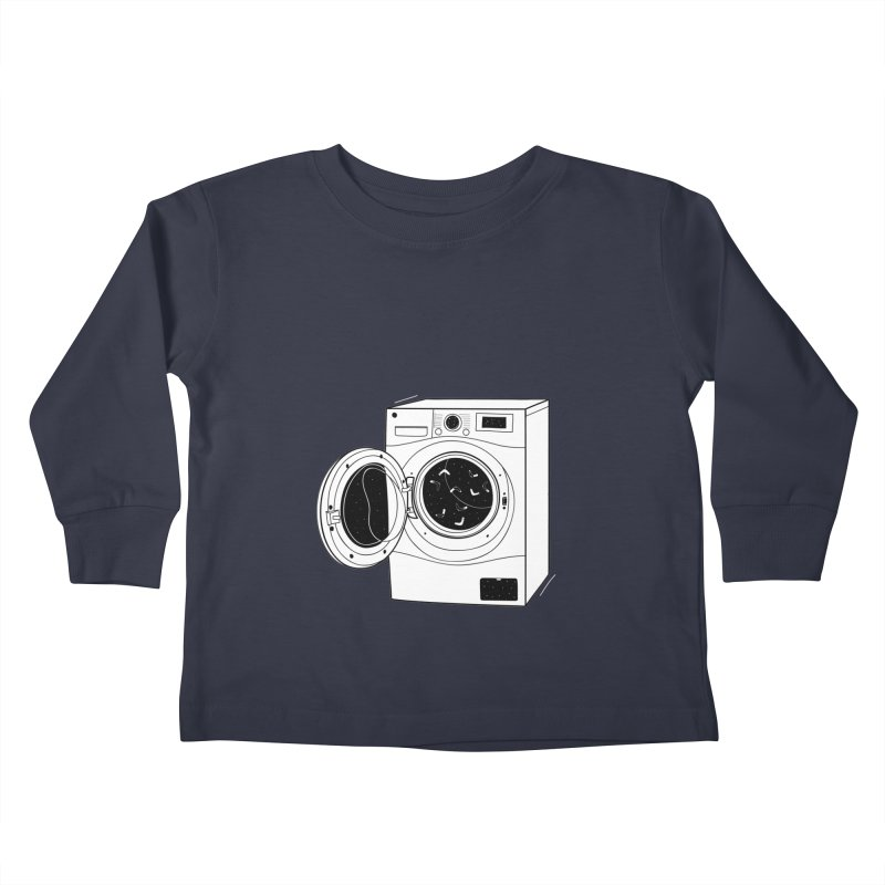 The washing machine and the mystery of the missing socks Kids Toddler Longsleeve T-Shirt by coclodesign's Artist Shop