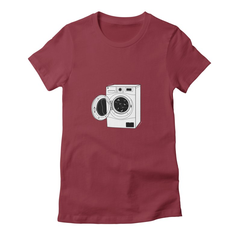 The washing machine and the mystery of the missing socks Women's Fitted T-Shirt by coclodesign's Artist Shop