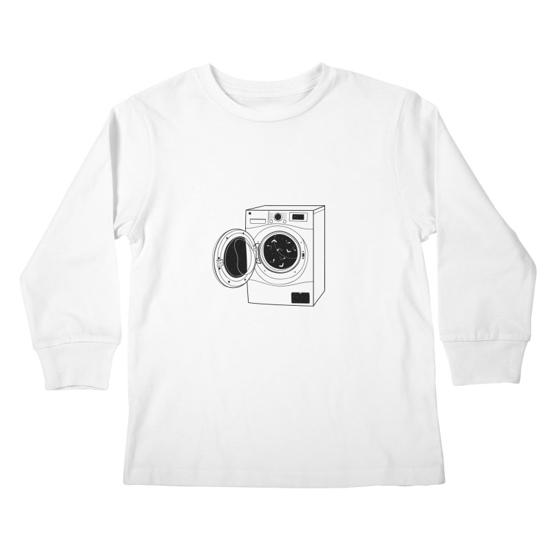 The washing machine and the mystery of the missing socks Kids Longsleeve T-Shirt by coclodesign's Artist Shop