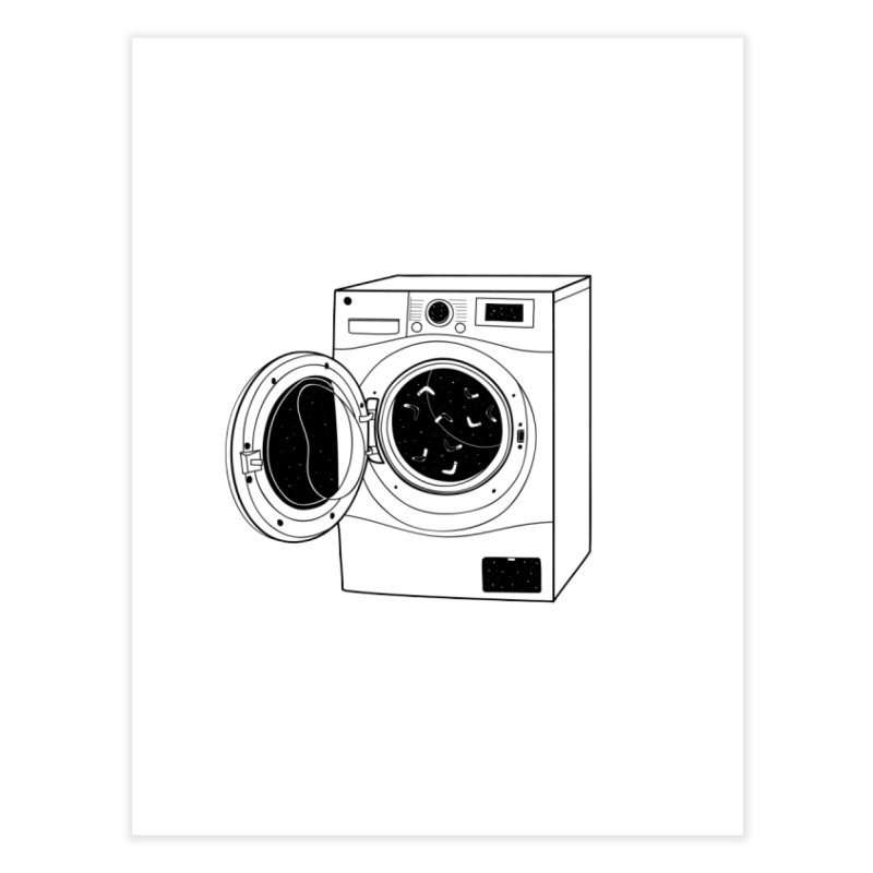 The washing machine and the mystery of the missing socks Home Fine Art Print by coclodesign's Artist Shop