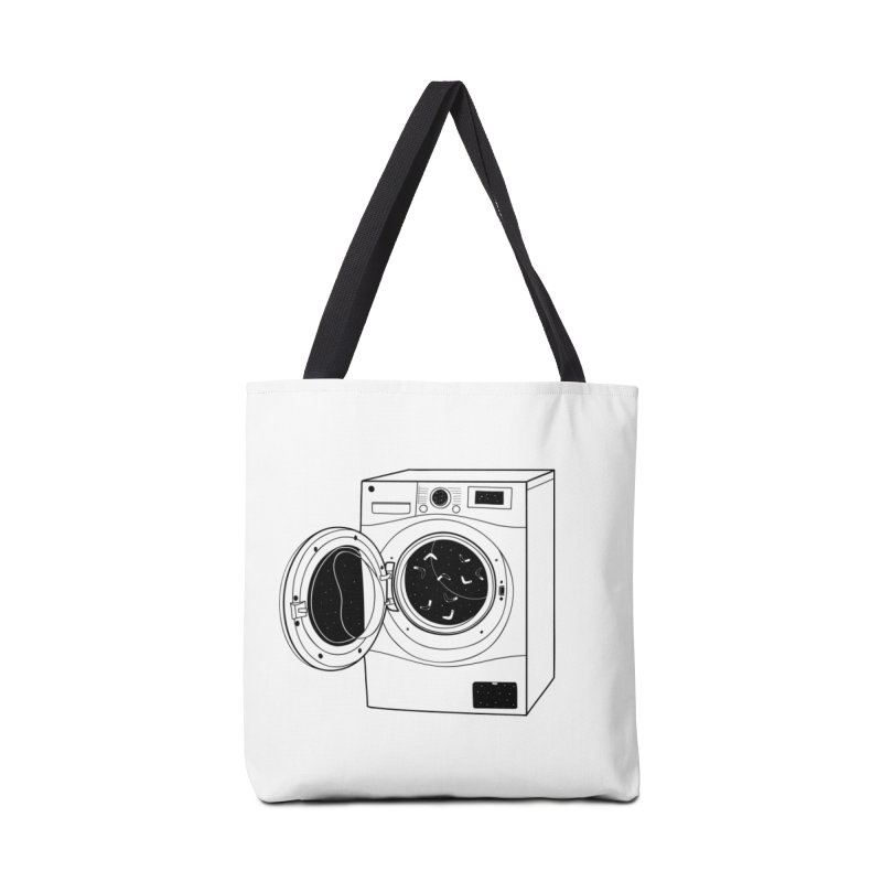 The washing machine and the mystery of the missing socks Accessories Bag by coclodesign's Artist Shop