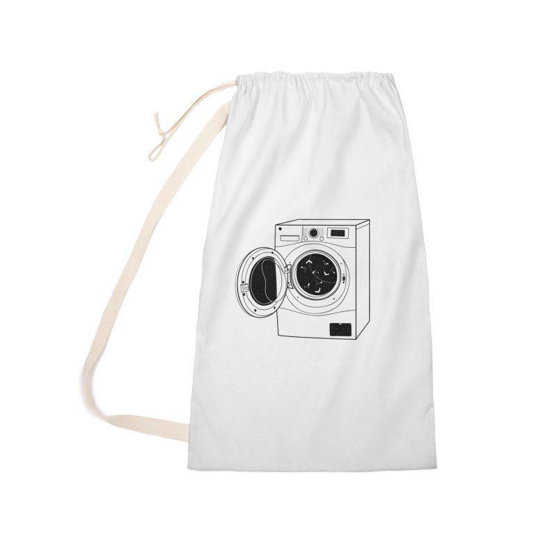 The washing machine and the mystery of the missing socks Accessories Laundry Bag Bag by coclodesign's Artist Shop