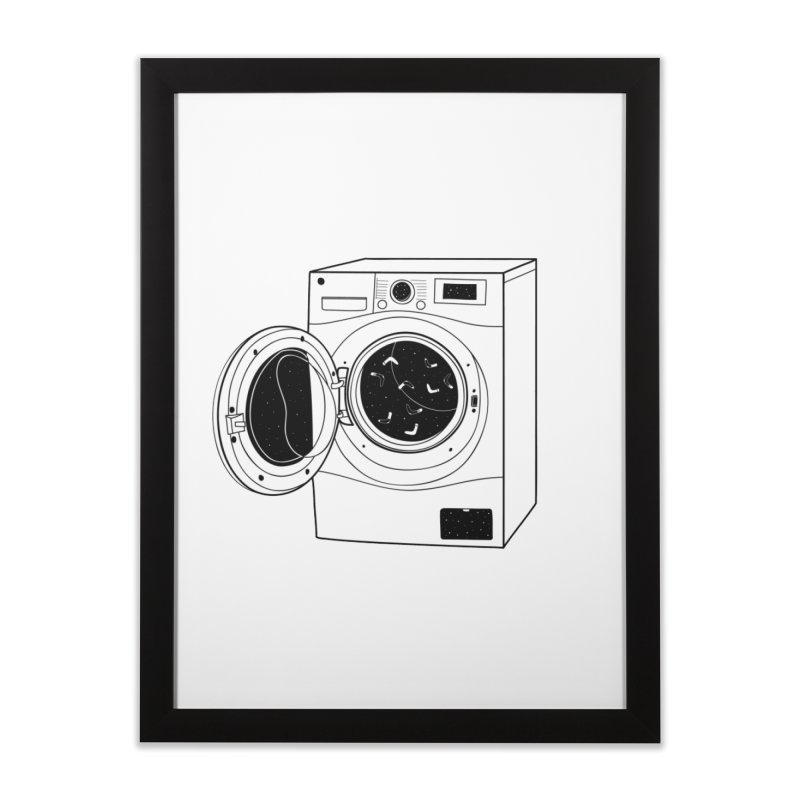 The washing machine and the mystery of the missing socks Home Framed Fine Art Print by coclodesign's Artist Shop