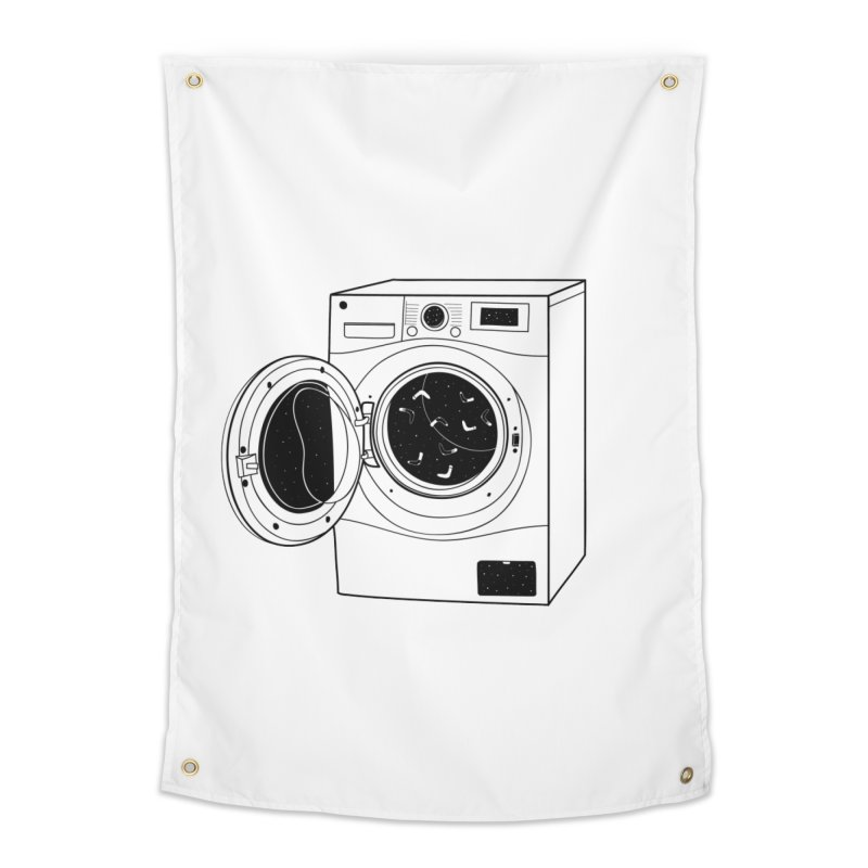 The washing machine and the mystery of the missing socks Home Tapestry by coclodesign's Artist Shop
