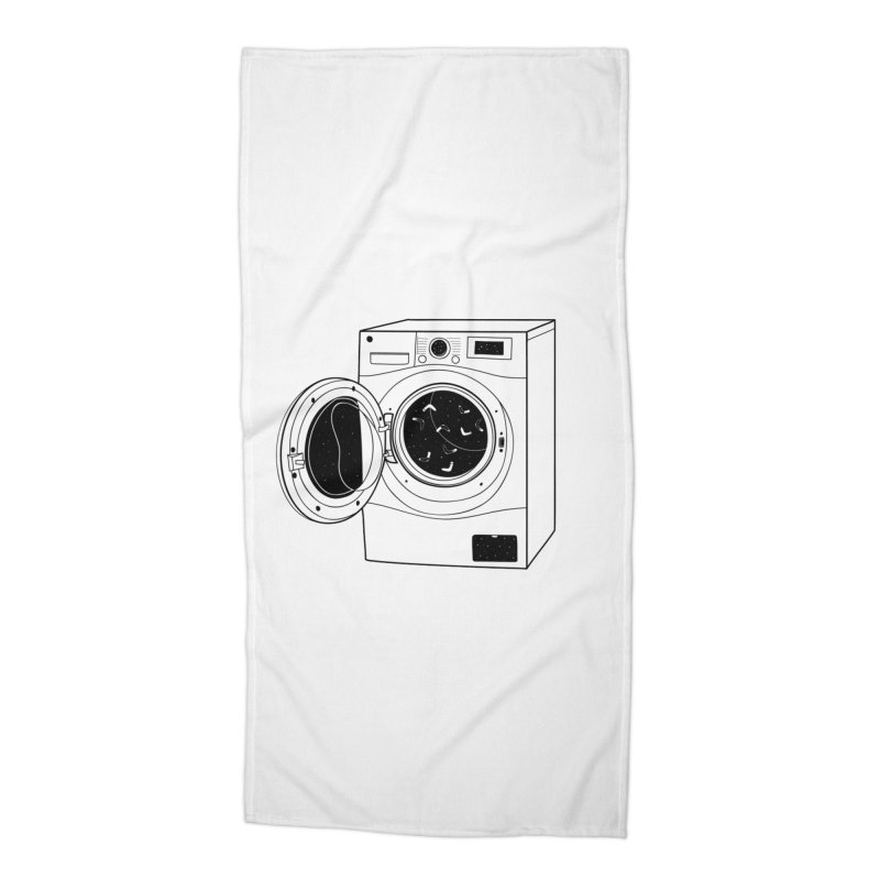 The washing machine and the mystery of the missing socks Accessories Beach Towel by coclodesign's Artist Shop