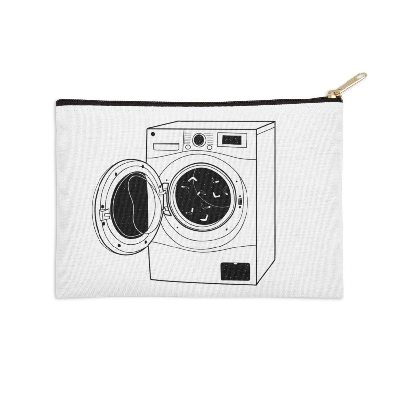 The washing machine and the mystery of the missing socks Accessories Zip Pouch by coclodesign's Artist Shop