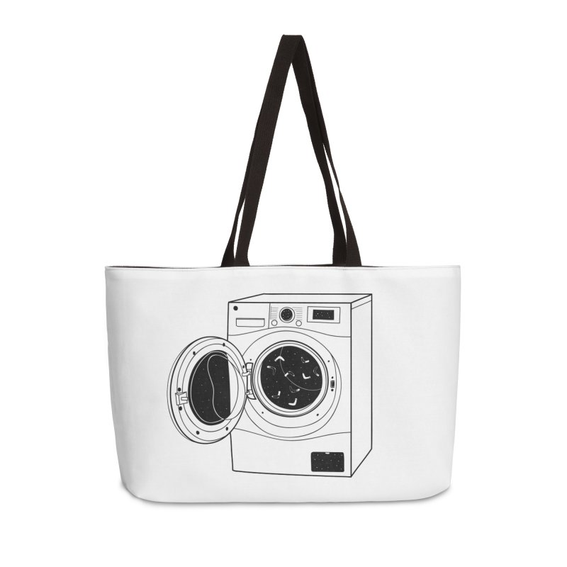 The washing machine and the mystery of the missing socks Accessories Weekender Bag Bag by coclodesign's Artist Shop