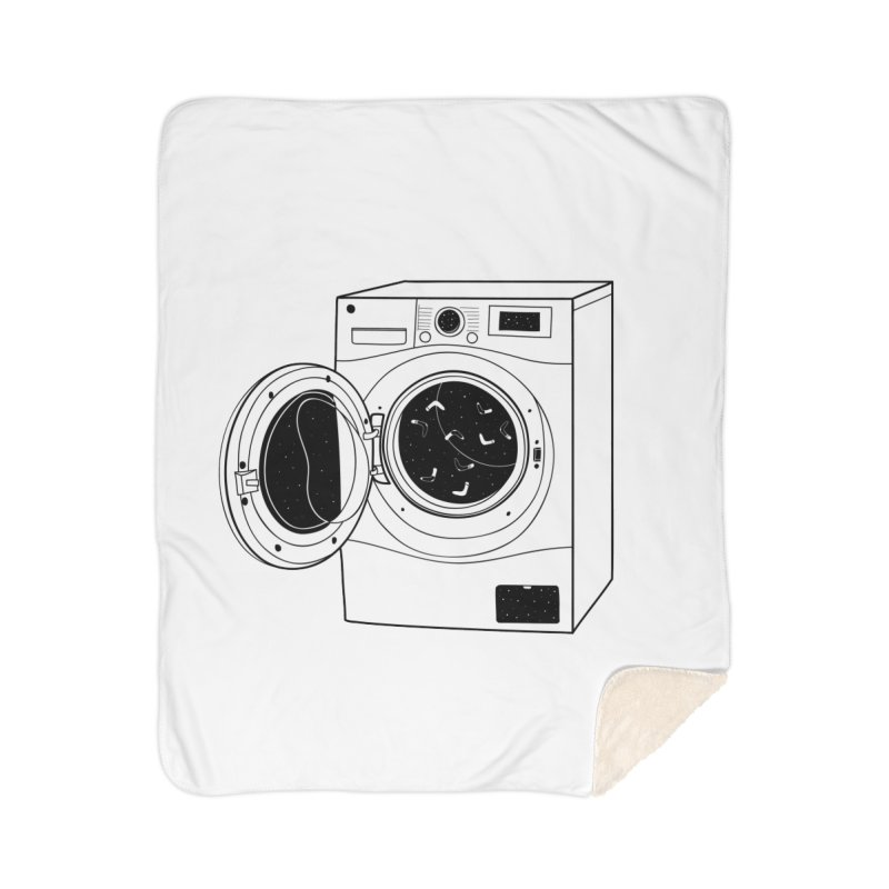 The washing machine and the mystery of the missing socks Home Blanket by coclodesign's Artist Shop