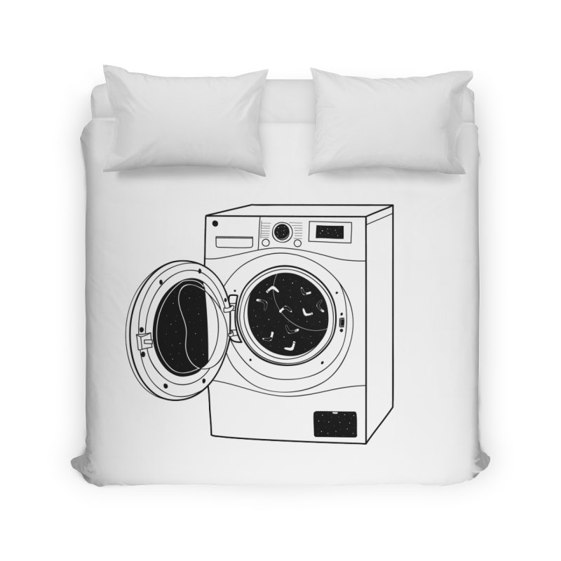 The washing machine and the mystery of the missing socks Home Duvet by coclodesign's Artist Shop