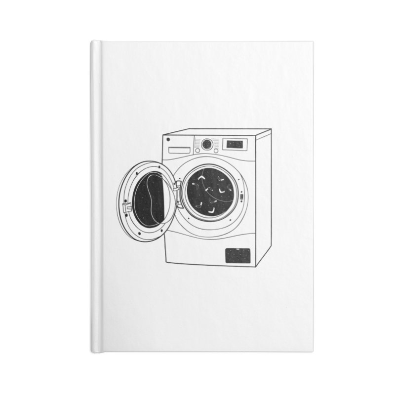 The washing machine and the mystery of the missing socks Accessories Blank Journal Notebook by coclodesign's Artist Shop