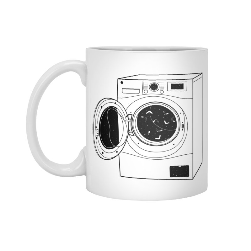 The washing machine and the mystery of the missing socks Accessories Mug by coclodesign's Artist Shop
