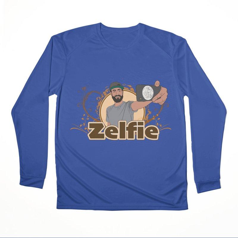 Zelfie Men's Performance Longsleeve T-Shirt by Coconut Justice's Artist Shop