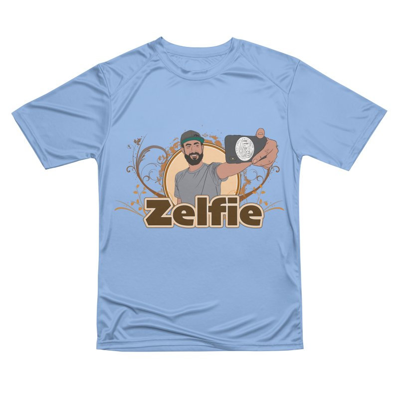 Zelfie Men's Performance T-Shirt by Coconut Justice's Artist Shop