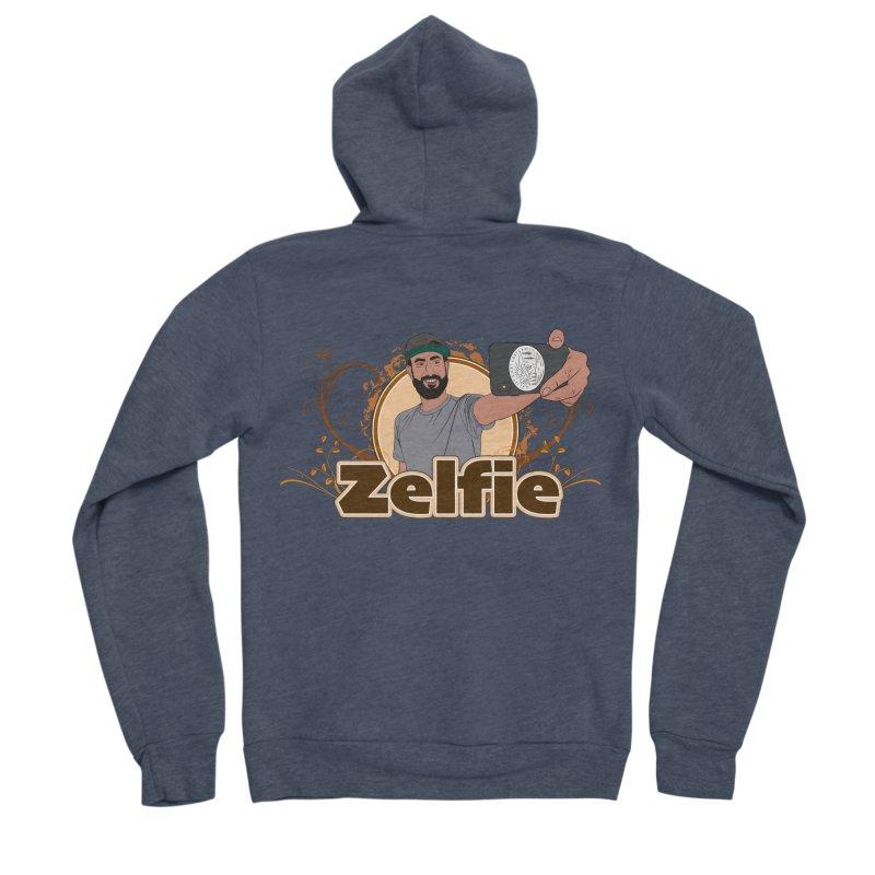 Zelfie Men's Sponge Fleece Zip-Up Hoody by Coconut Justice's Artist Shop