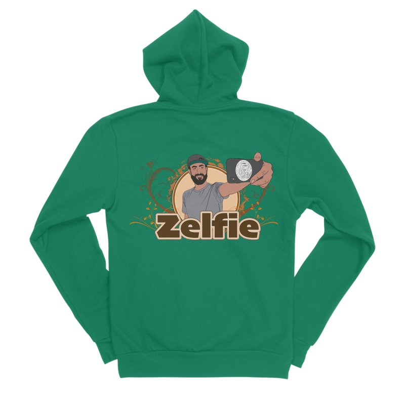 Zelfie Men's Sponge Fleece Zip-Up Hoody by Coconut Justice's Artist Shop