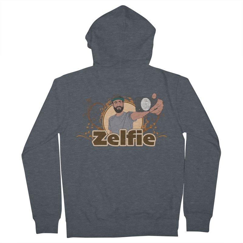 Zelfie Men's French Terry Zip-Up Hoody by Coconut Justice's Artist Shop