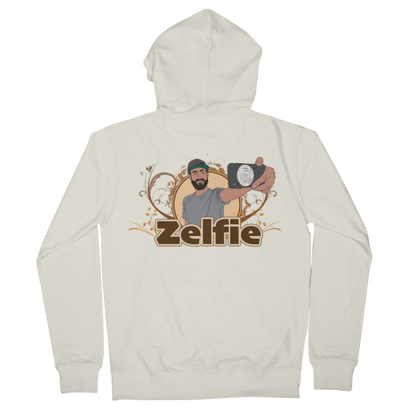 Zelfie Men's French Terry Zip-Up Hoody by Coconut Justice's Artist Shop