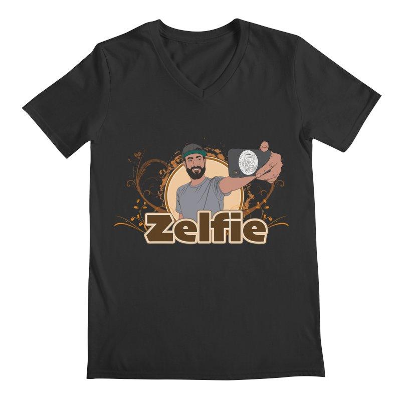 Zelfie Men's Regular V-Neck by Coconut Justice's Artist Shop