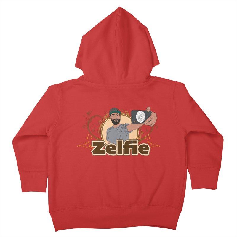Zelfie Kids Toddler Zip-Up Hoody by Coconut Justice's Artist Shop