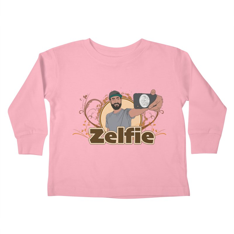 Zelfie Kids Toddler Longsleeve T-Shirt by Coconut Justice's Artist Shop