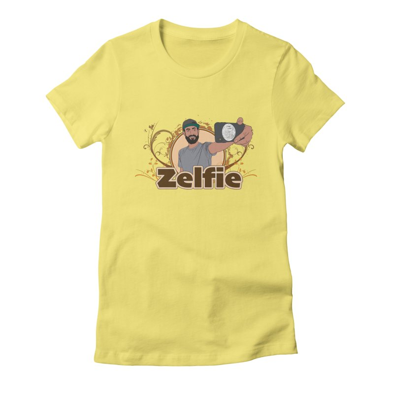 Zelfie Women's Fitted T-Shirt by Coconut Justice's Artist Shop