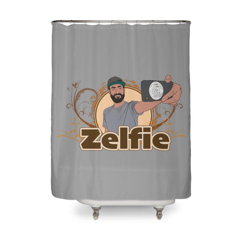 Zelfie Home Shower Curtain by Coconut Justice's Artist Shop