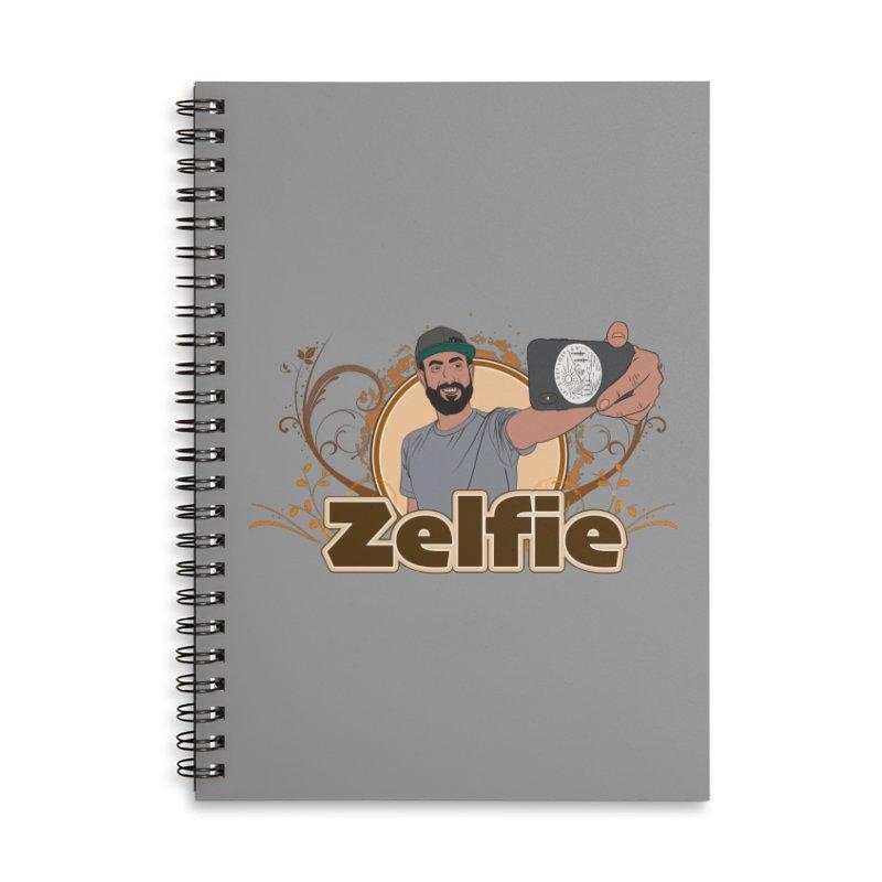 Zelfie Accessories Lined Spiral Notebook by Coconut Justice's Artist Shop