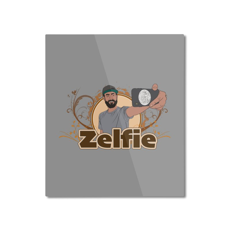 Zelfie Home Mounted Aluminum Print by Coconut Justice's Artist Shop