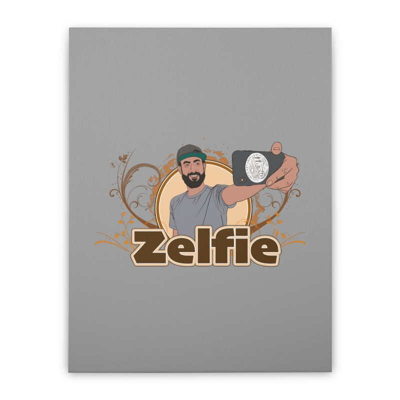 Zelfie Home Stretched Canvas by Coconut Justice's Artist Shop