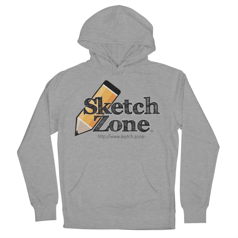 Throwback Sketch Zone Logo Men's French Terry Pullover Hoody by Coconut Justice's Artist Shop