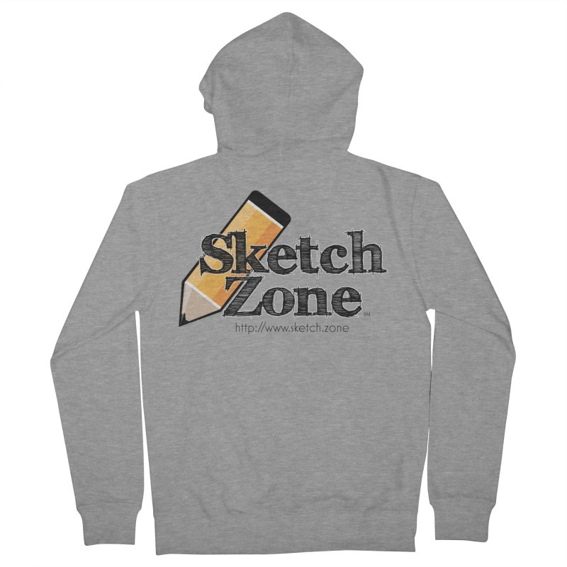 Throwback Sketch Zone Logo Men's French Terry Zip-Up Hoody by Coconut Justice's Artist Shop