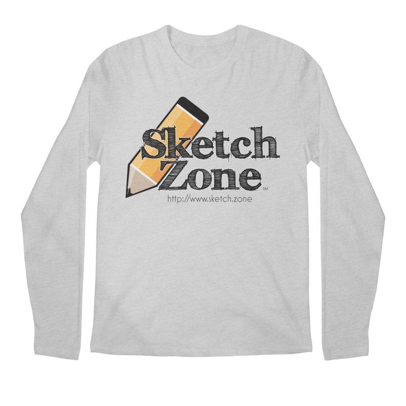 Throwback Sketch Zone Logo Men's Regular Longsleeve T-Shirt by Coconut Justice's Artist Shop