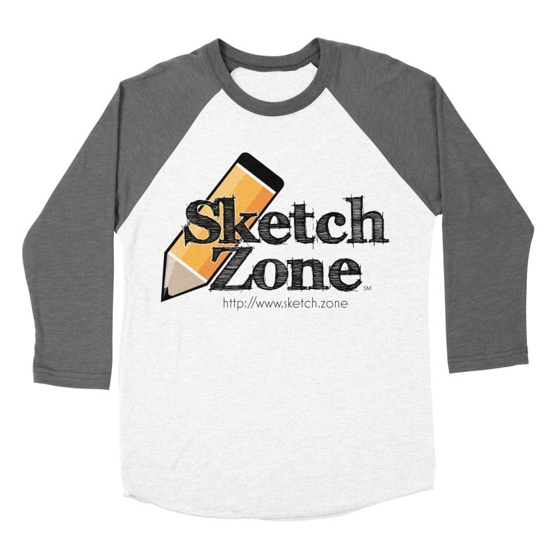 Throwback Sketch Zone Logo Women's Baseball Triblend T-Shirt by Coconut Justice's Artist Shop